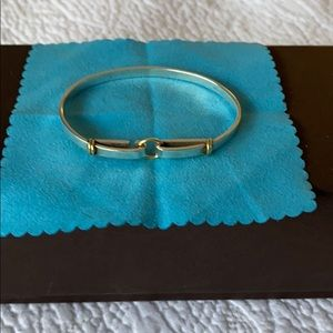 AUTHENTIC TIFFANY & Co. sterling and 18k bracelet